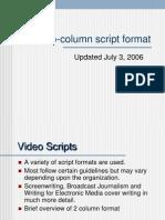 two-column script format