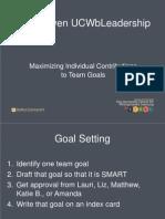 Goal DrivenUCWbLeadership20140124