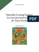 Upasaka Losang Gyatso La Concisa Instrucción de Tara Verde