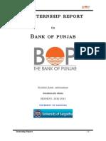 HRM Internship Report on Bank of Punjab | Investment Banking