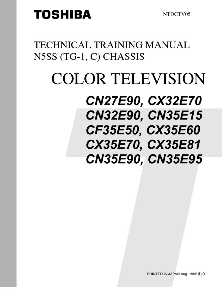 7520950 Toshiba Cn27e90 Tv Technical Training Manual Detector Motor Starter Wiring Diagram Radio Electronic Circuits