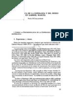 4. LA METAFÍSICA DE LA ESPERANZA Y DEL DESEO EN GABRIEL MARCEL, PAUL O'CALLAGHAN