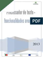 Processamento de texto - funcionalidades avançadas 2013