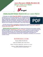 Manual Actualizar Desbloquear ENGEL RS4800HD Por RS232