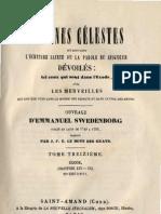 Em Swedenborg ARCANES CELESTES TomeTreizieme 2sur2 Exode XX XXI Numeros 8853 9111 LeBoysDesGuays 1851