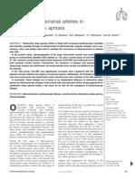 Changes in extracranial arteries in obstructive sleep apnoea