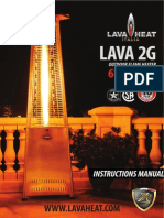 Lava Heat Italia - 2G patio heater - Owners Manual