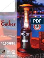 Lava Heat Italia - Ember Mini patio heater - Owners Manual