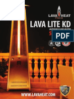 Lava Heat Italia - Lava Lite KD patio heater - Owners Manual