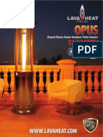 Lava Heat Italia - Opus patio heater - Owners Manual
