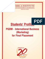 PGDM - IB Marketing)