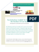 Mortgage Tax Deductions