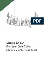 Portofoliu Clasa a Ix A Geografie