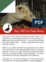 """Say """"NO"""" to foie gras"""