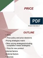 Price strategies