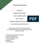 Plainte La Haye - Dr Mathias Rath