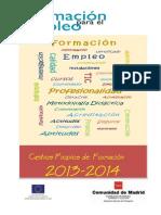 CATALOGO  CURSOS CENTRO DE FORMACIÓN PARA EL EMPLEO  2013-2014