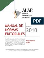 Manual de Normas Editoriales Asociación Latinoamericana de Población