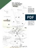 Inconfidência Mineira mapa de apoio
