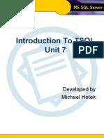 Intro to TSQL - Unit 7
