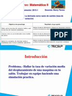 Sesión 2_1_2013 - La Derivada Como Razón De Cambio (Tasa De Variación)