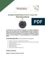 Jornadas introductorias al Diseño Integral con Permacultura 8 y 9 de Febrero del 2014 - Espacio Ayni