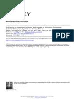 Profitability of Momentum Strategies an Evaluation of Alternative Explanations 2001