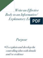 informative explanatory essay body review