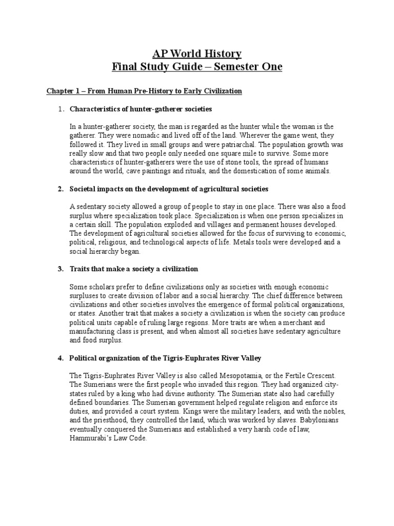 world history study guide essay World studies was first proposed by the united world college of mahindra in 2001 and was eventually set up as an extended essay pilot option in 2005 the process of researching and writing the world studies extended essay develops international-mindedness and specifically the concept of global.