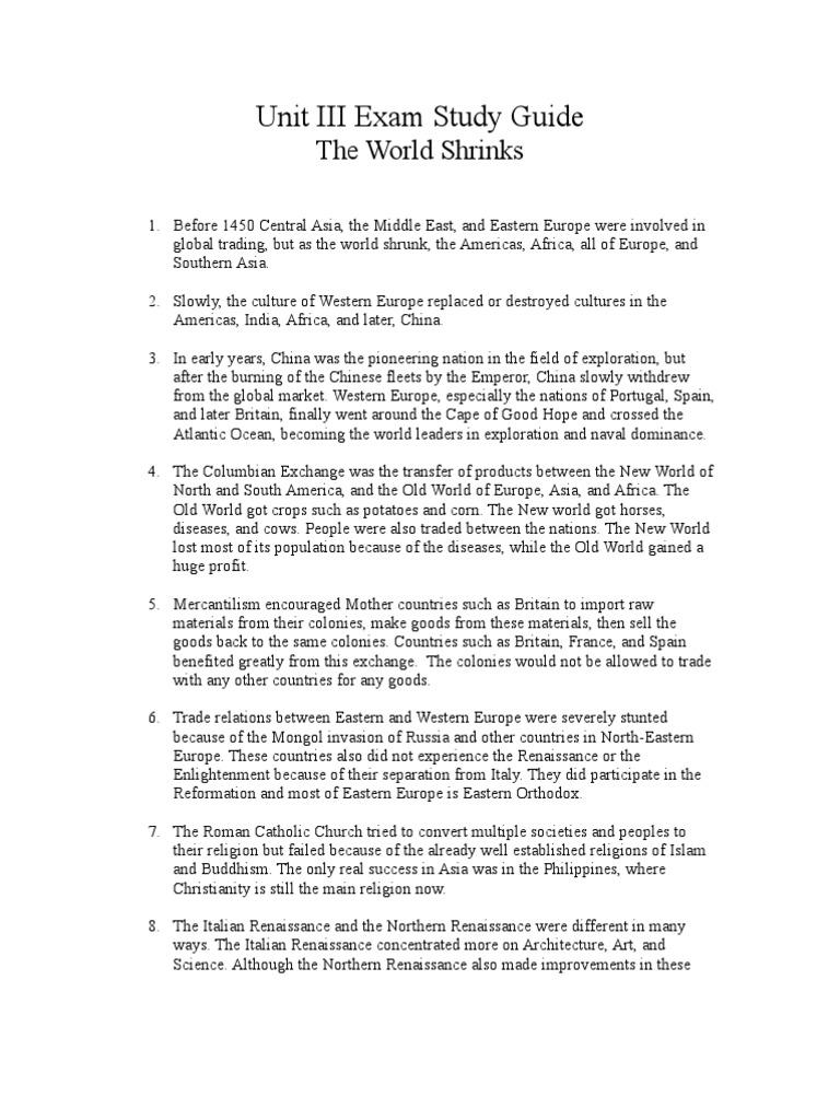 Unit III Exam Study Guide - AP World History | Atlantic Slave Trade |  Slavery