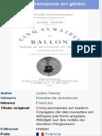 Julio Verne - Cinco Semanas en Globo