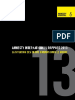 Rapport Amnesty International 2013