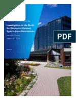 KPMG audit of Memorial Gardens' project