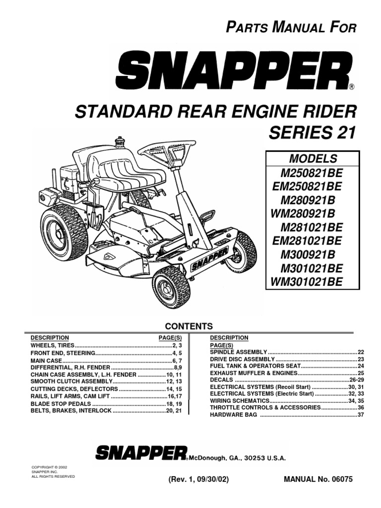 Wiring Schematic For Snapper Riding Mower Diagram M281019be 28 Rear Radio 2007