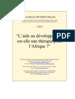 Aide Devel Therapie Afrique