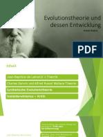 Evolutionstheorie Und Dessen Entwicklung