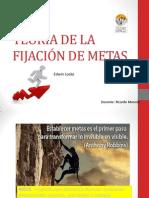 TEORÍA DE LA FIJACIÓN DE METAS