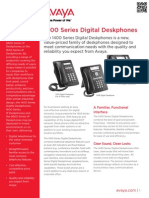 Overview of Avaya 1400 Series Digital Deskphones
