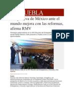 09-01-2014 Milenio.com - Perspectiva de México ante el mundo mejora con las reformas, afirma RMV