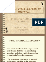 Creating a Culture of Thinking in the Social Science Classroom