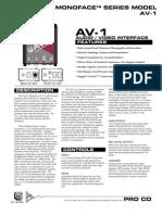 Pro Co Monoface AV1 DI Box