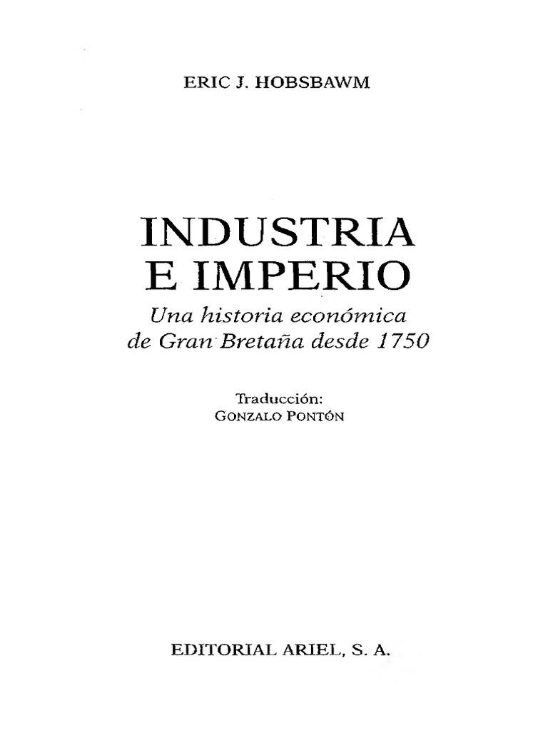 HOBSBAWN Eric, Industria e Imperio