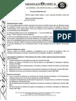 Syllabus Prob y Est Prim 2014
