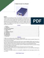 GPS Vehicle Tracker User Manual