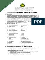 SILABO TALLER DISEÑO 9 - CICLO DE VERANO - MARTINEZ