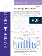 Empire Center for Public Policy report on education costs in New York state schools