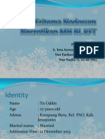 Eritema Nodosum Necrotikan MH BL RFT