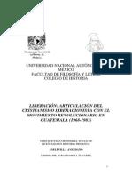 Articulación del cristianismo liberacionista con el movimiento revolucionario en Guatemala
