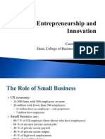 Entrepreneurship and Innovation