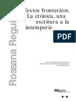 La crónica- una escritura a la intemperie - Rosana Reguillo